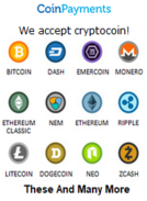 Pay with Bitcoin or Other Crypto Currencies!